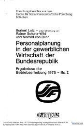 Personalplanung in der gewerblichen Wirtschaft der ... - ISF München