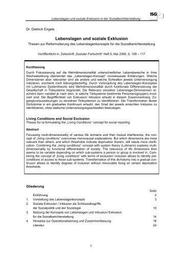Lebenslagen und soziale Exklusion.pdf - ISG