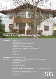 Mietwohnanlage Reichersberg Nr. 176/177 - ISG