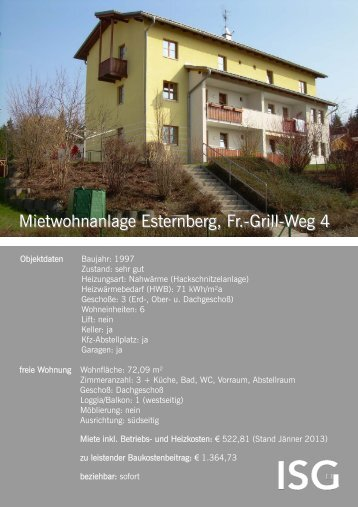 Mietwohnanlage Esternberg, Fr.-Grill-Weg 4 - ISG