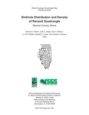 Sinkhole Distribution and Density of Renault Quadrangle