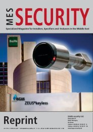 Specialized Magazine for Installers, Specifiers and ... - ISGUS-security