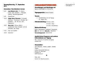 Flyer Endversion - Institut für Soziologie - Leibniz Universität Hannover