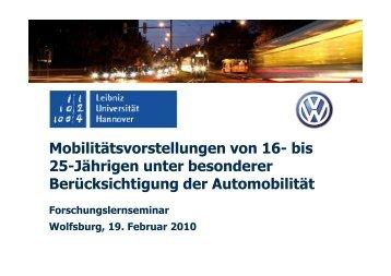 Ergebnisse des Forschungslernmoduls 09/10 - Leibniz Universität ...