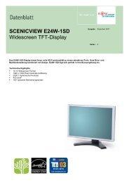 SCENICVIEW E24W-1SD Widescreen TFT-Display
