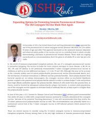 Expanding Options for Preventing Invasive Pneumococcal Disease ...