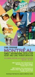 Final Program 13 - The International Society for Heart & Lung ...