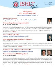Tattling Links - The International Society for Heart & Lung ...