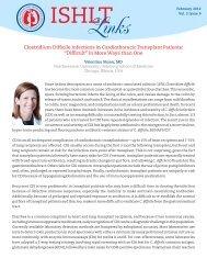 Clostridium Difficile Infections in Cardiothoracic Transplant Patients ...