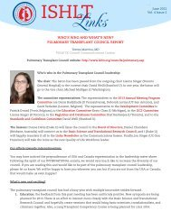 pulmonary transplant council report - The International Society for ...