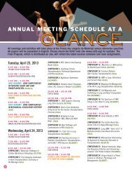 2013 Schedule At-A-Glance - The International Society for Heart ...