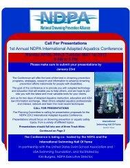 1st Annual NDPA International Adapted Aquatics Conference