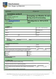 Ansøgningsskema til etablering af jordvarmeanlæg - Ishøj Kommune