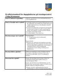 Her kan du læse Ishøj Kommunes kvalitetsstandard for døgnpladser