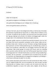 2. Joerg Fellermann   Grusswort der DGSv - ISI - Institut für Soziale ...