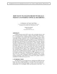 how many wavelengths do we really need in an internet optical ...