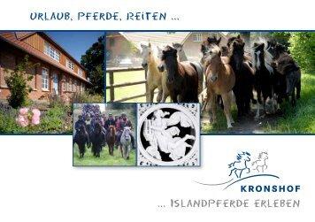 Urlaub, Pferde, Reiten ... ... Islandpferde erleben