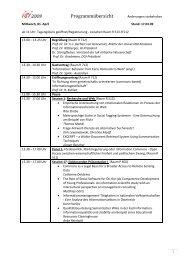 Programmübersicht - ISI 2009