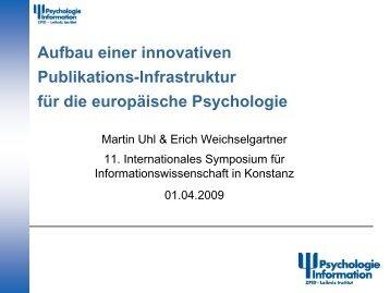 Aufbau einer innovativen Publikations-Infrastruktur für die ... - ISI 2009