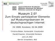 Museum 2.0? - ISI 2009