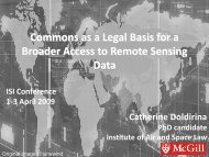 Remote Sensing: National Regulation - ISI 2009