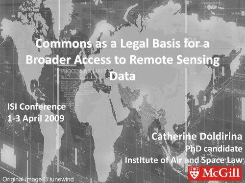Remote Sensing: National Regulation - ISI 2009