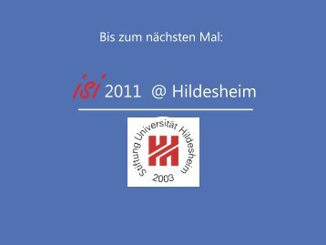 Internationales Informationsmanagement - ISI 2009