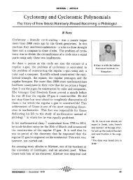 Cyclotomy and cyclotomic polynomials - Indian Statistical Institute