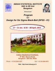 Program for - Indian Statistical Institute