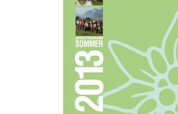Sommerprogramm 2013 - Deutscher Alpenverein Sektion Kaufering