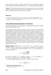 Uncountably Generated Ideals of Functions - Indian Statistical Institute