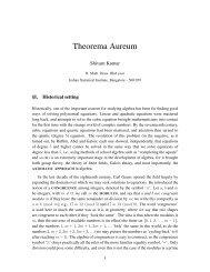 Theorema Aureum - Indian Statistical Institute
