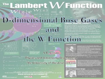D-diimensional Bose Gases and the Lambert W Function