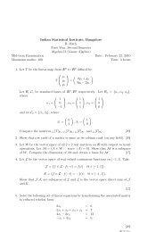 Algebra II 2009-10 - Indian Statistical Institute