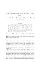 Higher order modular forms and mixed Hodge theory - Indian ...