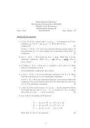 Analysis II 2003-04 - Indian Statistical Institute