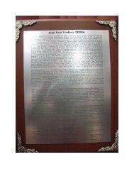 Citation on Wooden Plaque with Commemorative Inscription about ...
