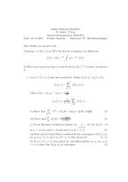 Fourier Analysis 2010-11 - Indian Statistical Institute