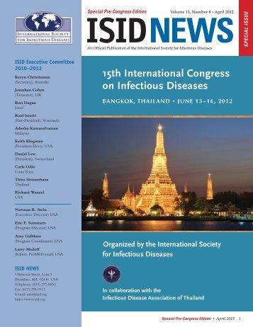 ISID NEWS April 2012 - International Society for Infectious Diseases