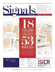 THE ISICR NEWSLETTER APRIL 2012 I VOLUME 19 I NO. 1