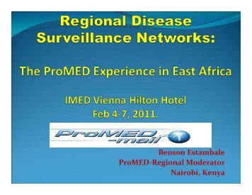 IMED2011_Estambale.pdf - International Society for Infectious ...