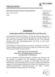 Terminhinweis - beim Ministerium des Innern,für Sport und ...