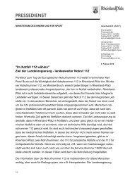 landesweiter Notruf 112 - beim Ministerium des Innern,für Sport und ...