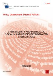 Policy Department External Policies CYBER SECURITY ... - Europa