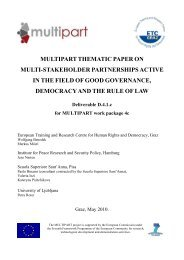 Multipart thematic paper on multi-stakeholder ... - ISIS Europe
