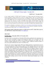 CSDP and EU Mission Update – November 2012 ... - ISIS Europe