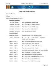 CSDP Note – Heads of Mission - ISIS Europe