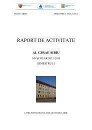 Raport CJRAE Sem. I 2012-2013 - Inspectoratul Şcolar al Judeţului ...
