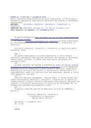 2011 Regulamentul privind organizarea si functionarea CJRAE