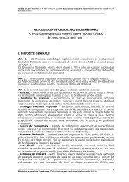 Metodologia de organizare si desfasurarea evaluarii nationale ...